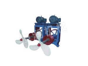 Paddle pool propeller machine