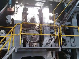 Large roll diameter blind hole press
